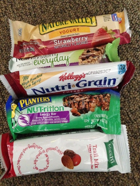 Many nutritious energy bar options can be found at the shops around campus including the Commons Shop and the Union Shop.