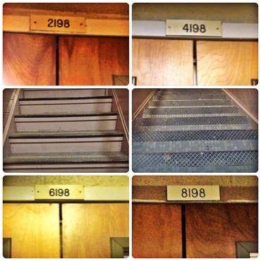 I live on the eighth floor of my building, and I make a point of taking the stairs instead of riding the elevator on a regular basis! #MakesMovesUMD (submitted by Emily Long)