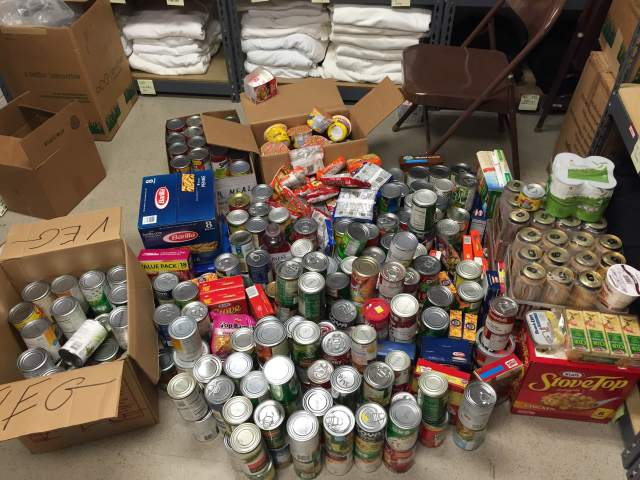 CRS student employees collected over 450 items of food for the UMD Campus Pantry.
