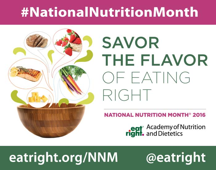 National Nutrition Month 2016 Live Well Umd