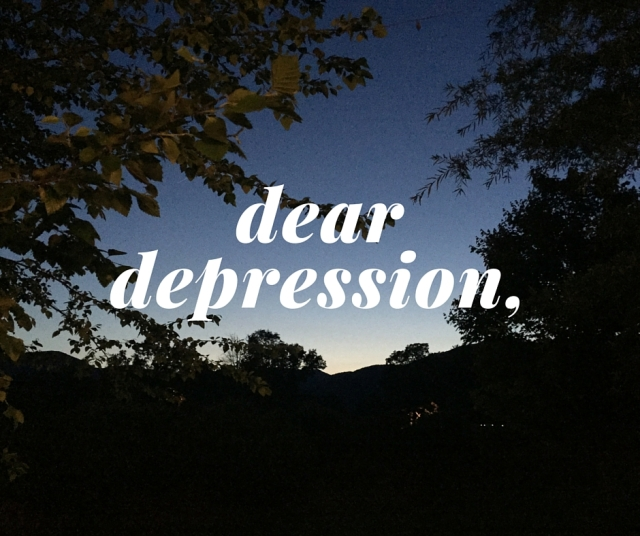 an openletter todepression (2)
